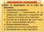 criterios de evaluaci n