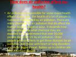 how does air pollution affect our health