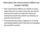 how does the environment effect our health intro
