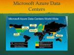microsoft azure data centers