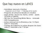 que hay nuevo en ldvcs2