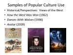 samples of popular culture use1