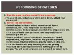refocusing strategies