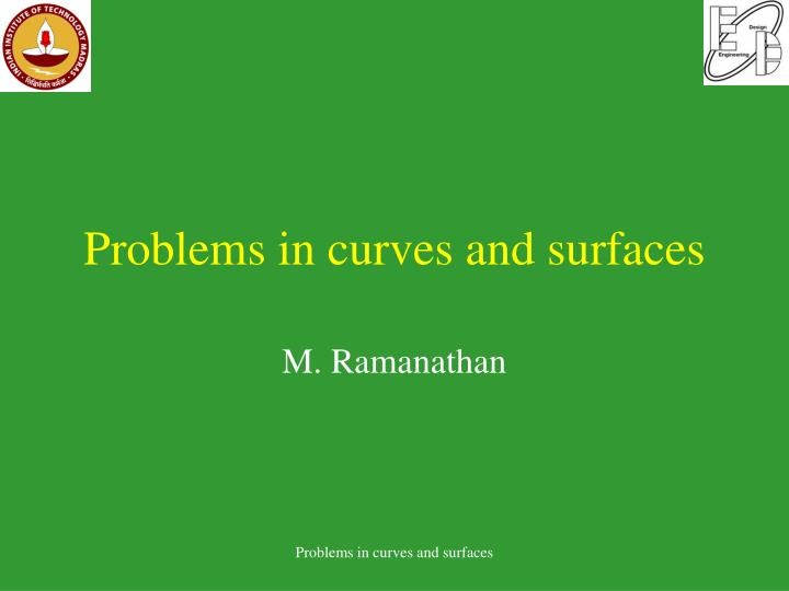 problems in curves and surfaces n.
