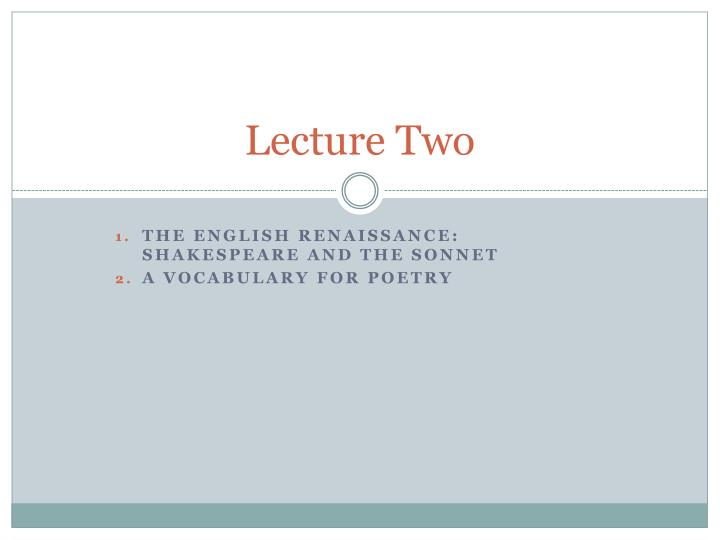 lecture two n.