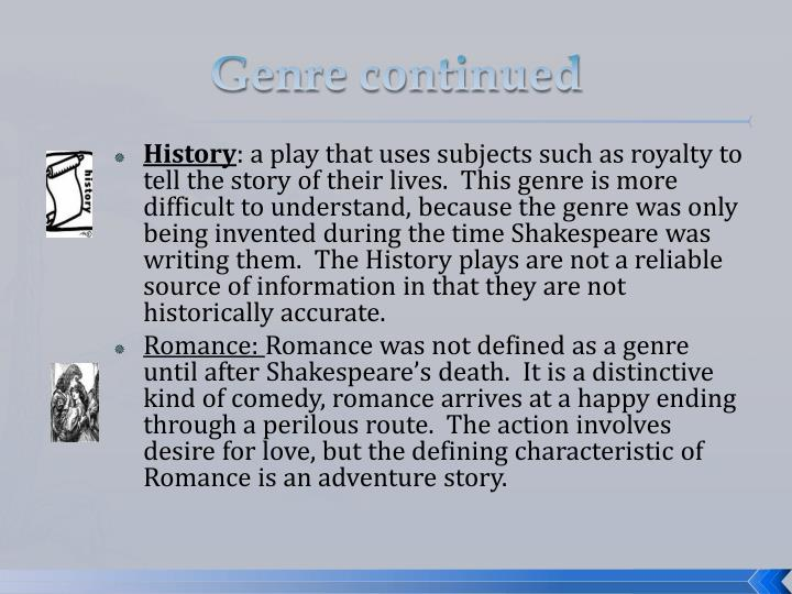 Genre continued
