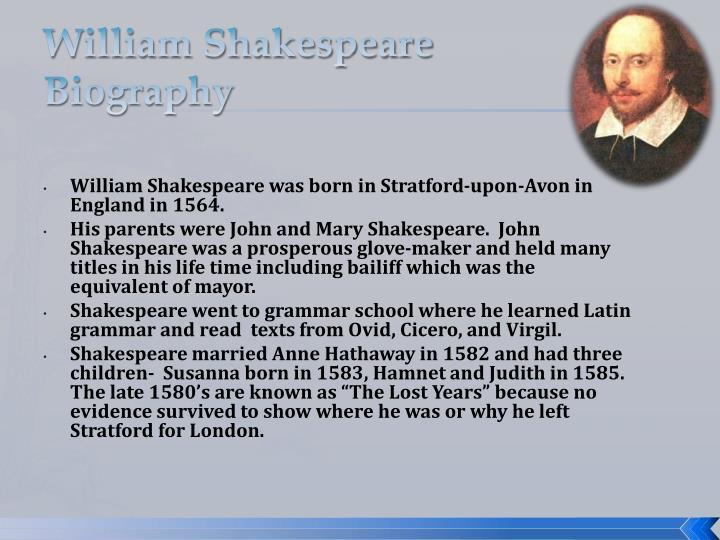William shakespeare biography