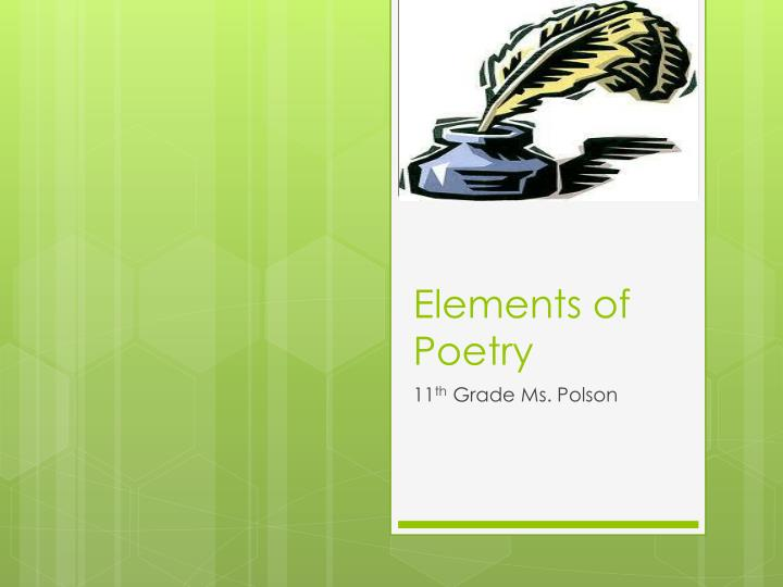 elements of poetry n.