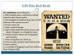 gis hits red bank