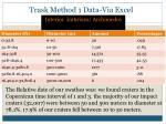 trask method 1 data via excel