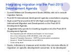 integrating migration into the post 2015 development agenda