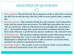 analyses of quatrain
