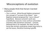 misconceptions of evolution1