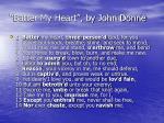 batter my heart by john donne