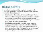 haikus activity