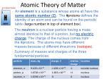atomic theory of matter10