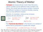 atomic theory of matter11