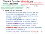 chemical formulas molecular and ionic substances1