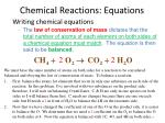 chemical reactions equations2