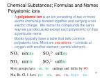 chemical substances formulas and names1