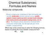 chemical substances formulas and names2