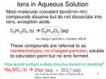 ions in aqueous solution1
