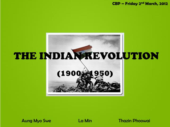 the indian revolution n.