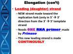 elongation con t