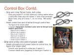 control box contd