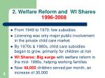 2 welfare reform and wi shares 1996 2008
