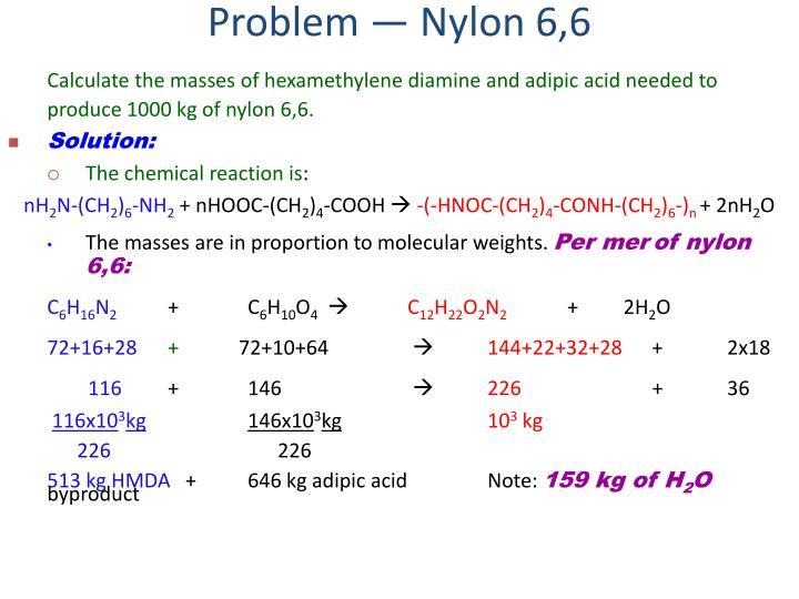 Problem — Nylon 6,6