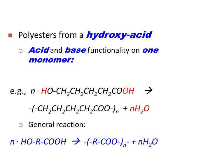 Polyesters from a
