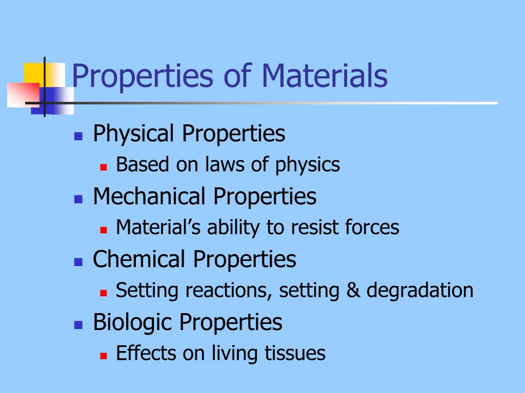 PPT - Properties of Materials PowerPoint Presentation - ID