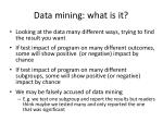 data mining what is it