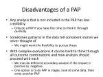 disadvantages of a pap