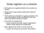 study registers as a solution