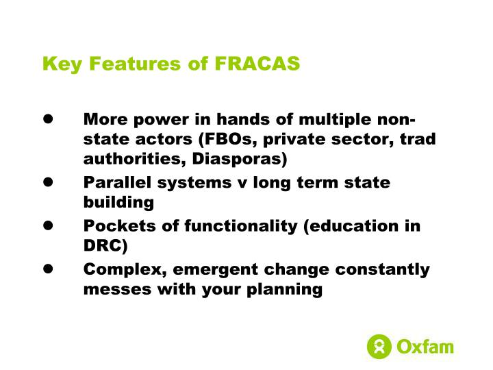 Key Features of FRACAS