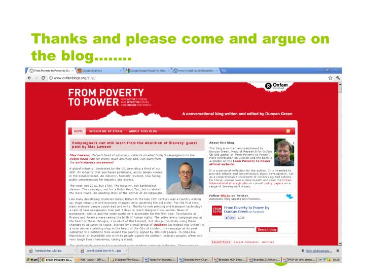 Thanks and please come and argue on the blog........
