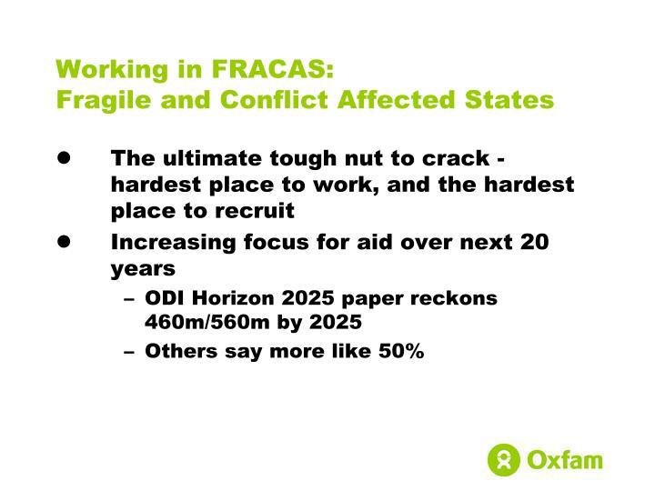 Working in FRACAS: