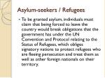 asylum seekers refugees