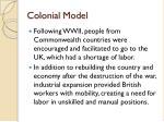colonial model