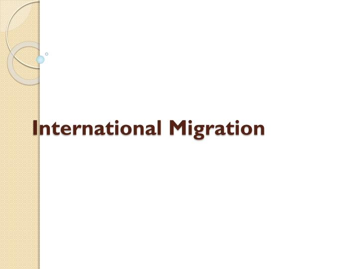 international migration n.