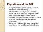 migration and the uk