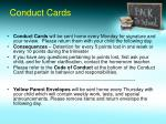 conduct cards