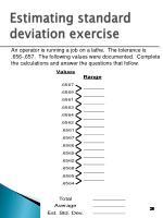 estimating standard deviation exercise