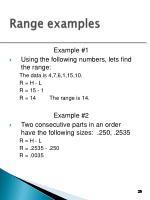 range examples