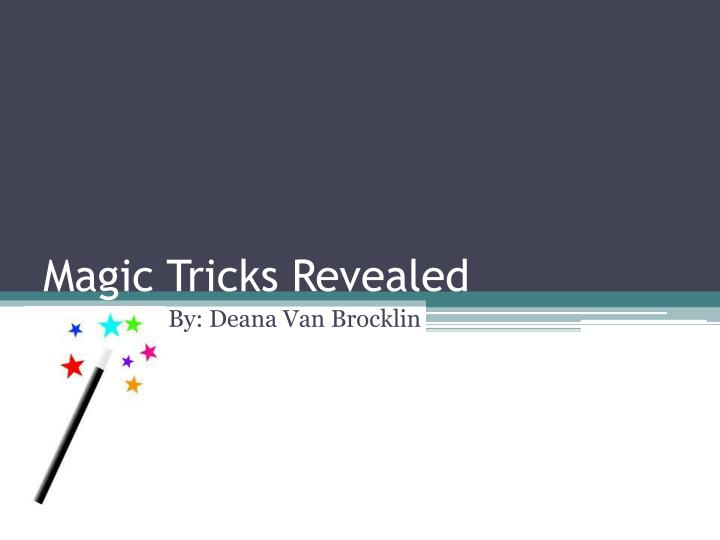 magic tricks revealed n.