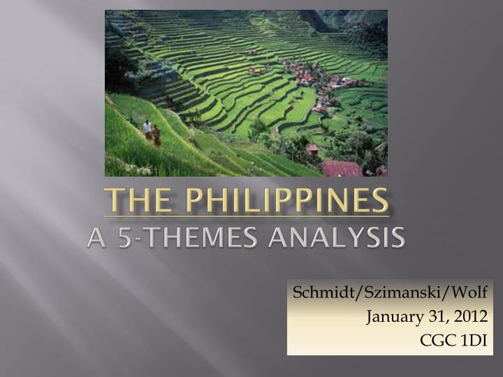 the philippines a 5 themes analysis n.