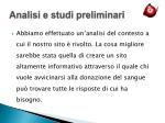 analisi e studi preliminari3