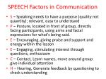 speech factors in communication